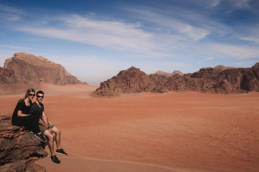 Red sand dune Wadi Rum