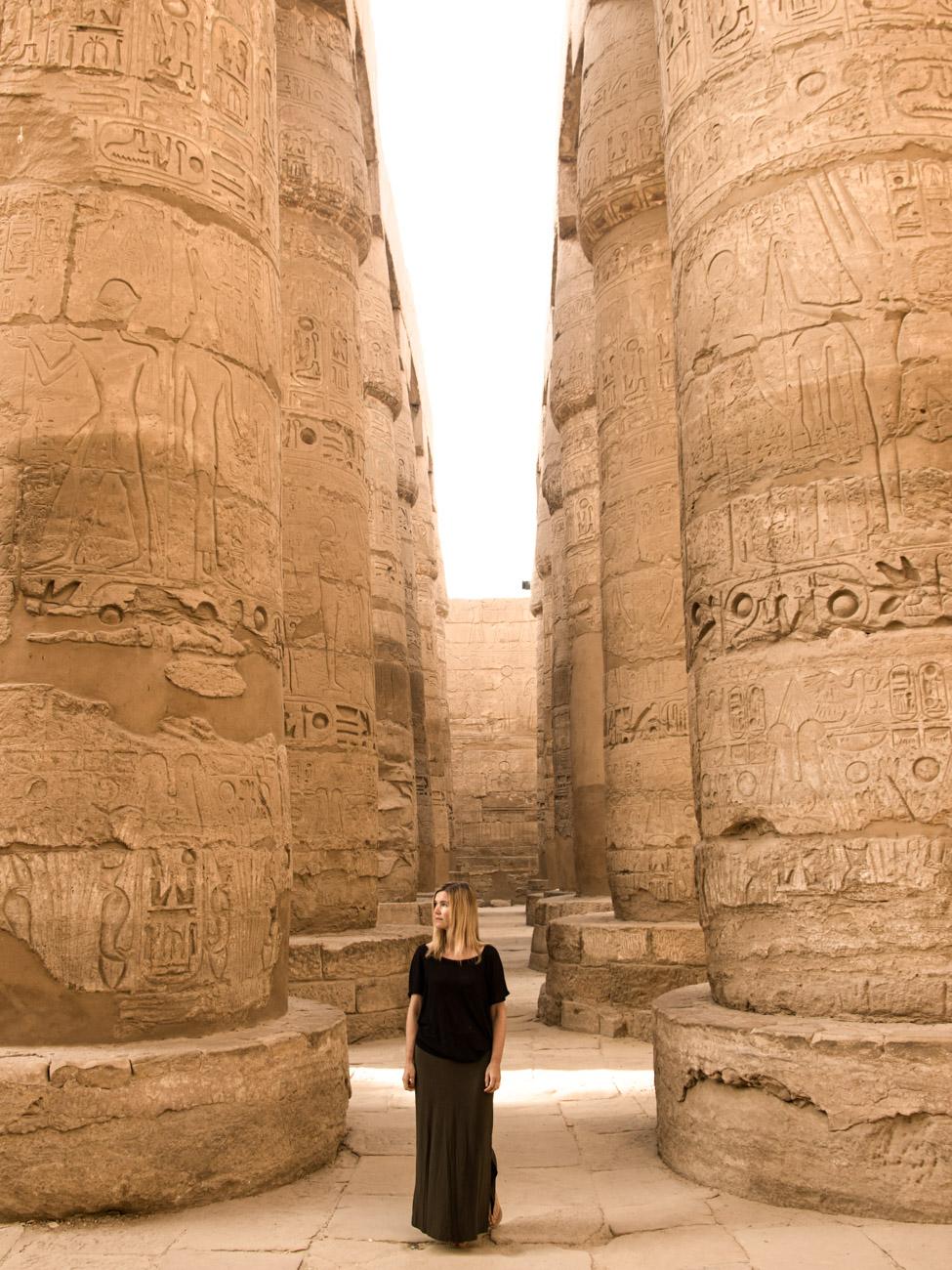 Karnak Temple pillars - Highlights of Egypt