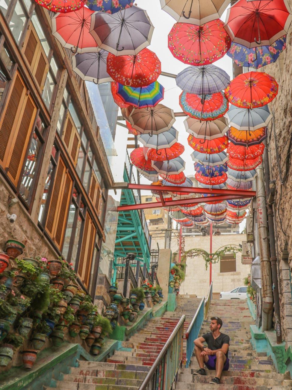 Umbrella in Amman - Jordan
