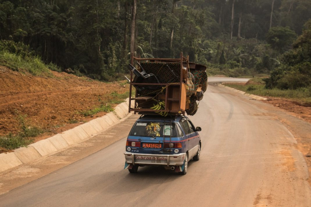 Overlanding Cameroon - A loaded car