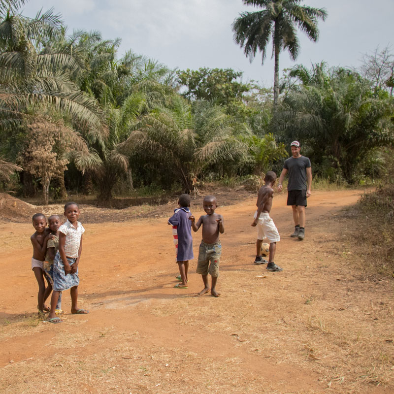 Football with the local kids in Cross River, Nigeria