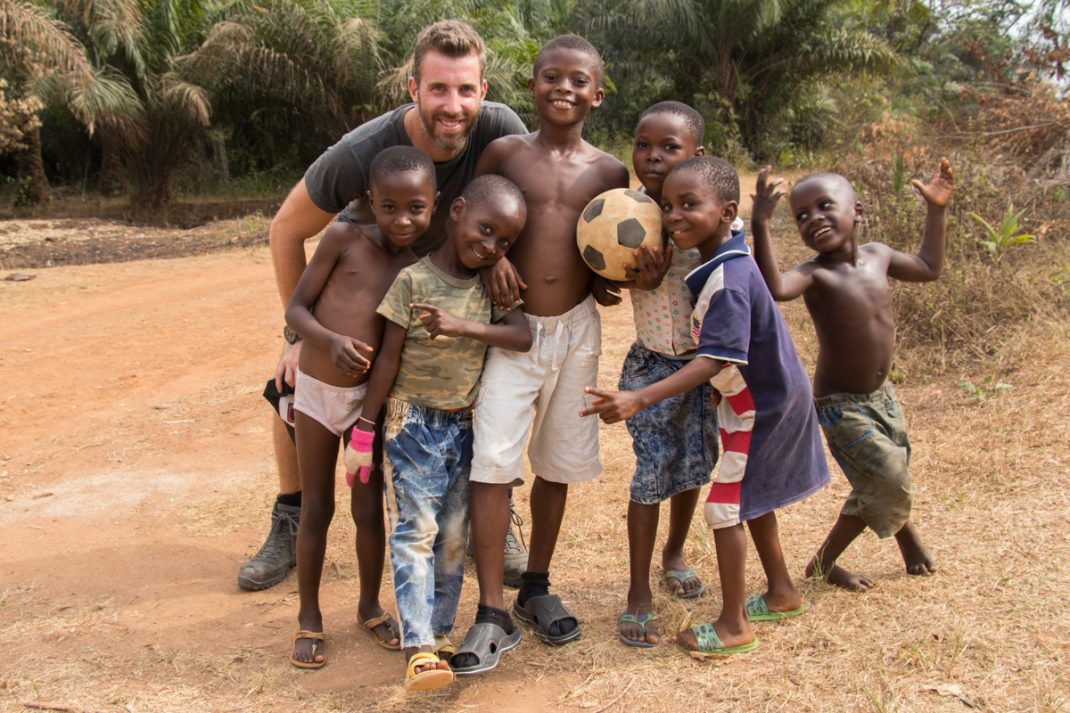 soccer with the local kids in Cross River, Nigeria