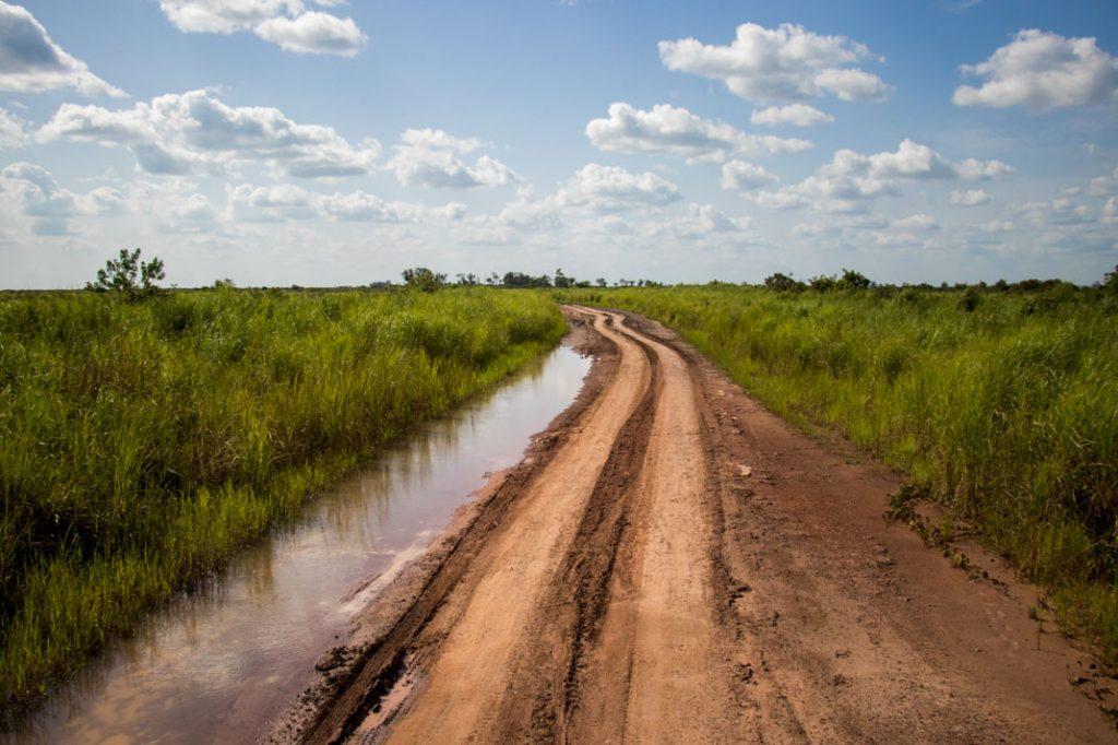 Muddy road, Republic of the Congo