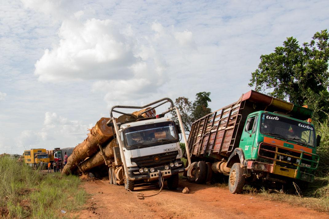 Blocked road, Republic of the Congo