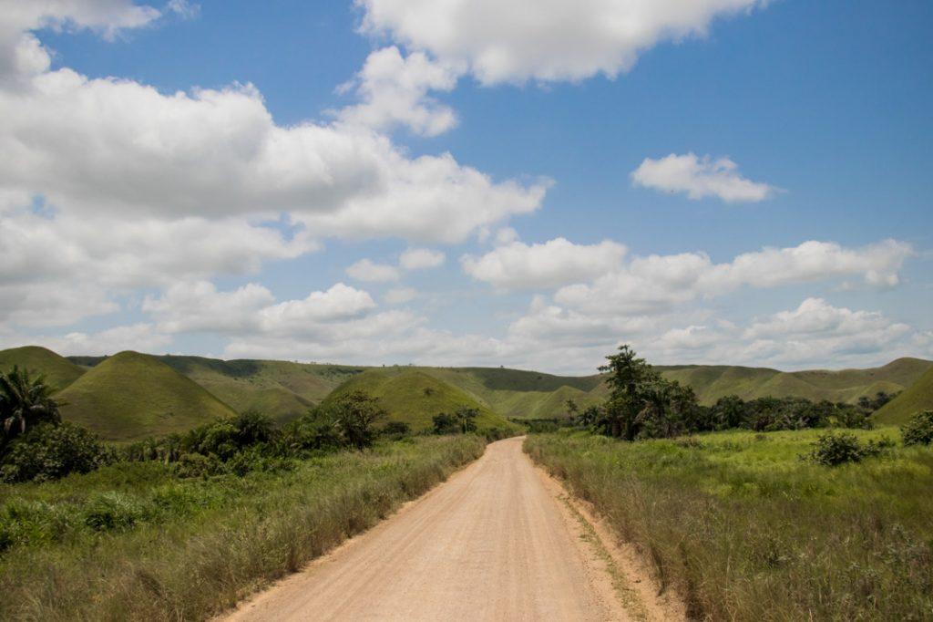 beautiful drive through the hills, Republic of the Congo