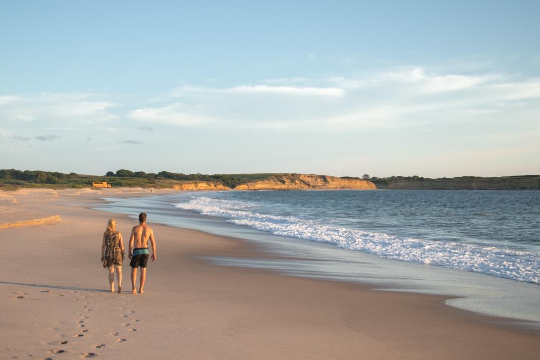 deserted beach walk in amazing Angola