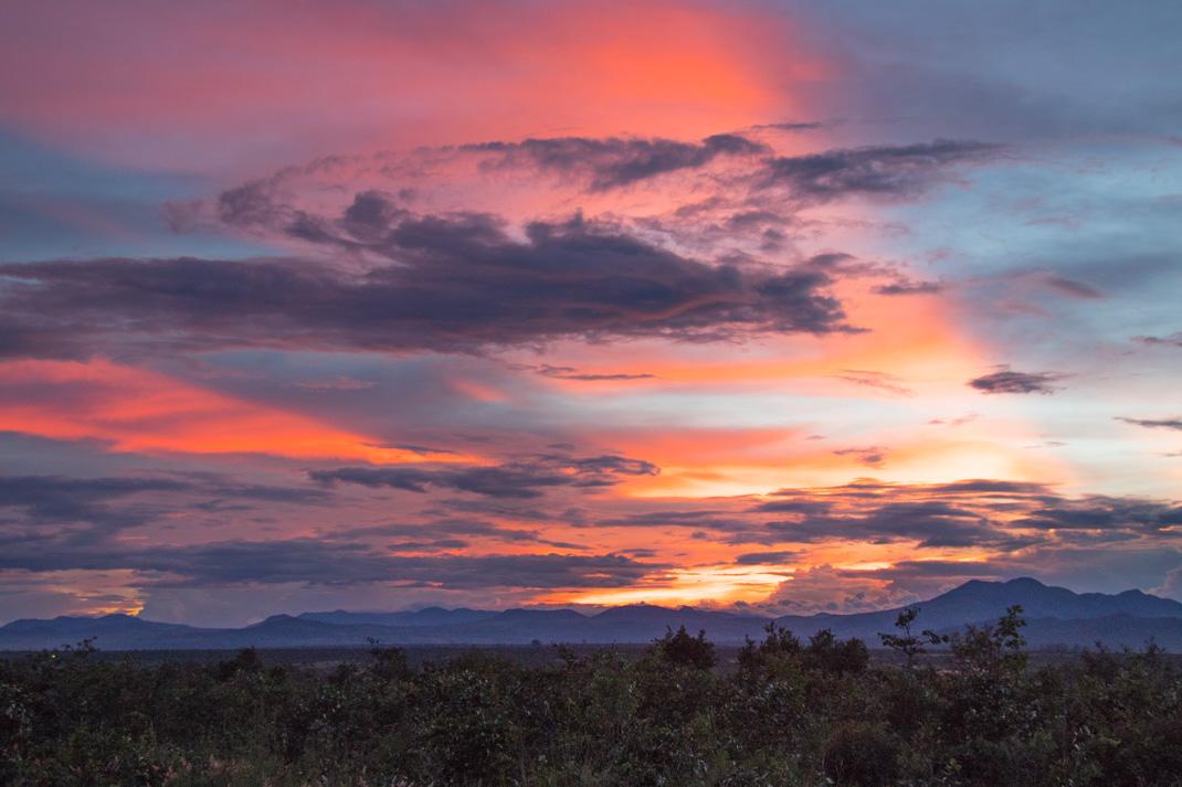 Stormy sunset, amazing Angola