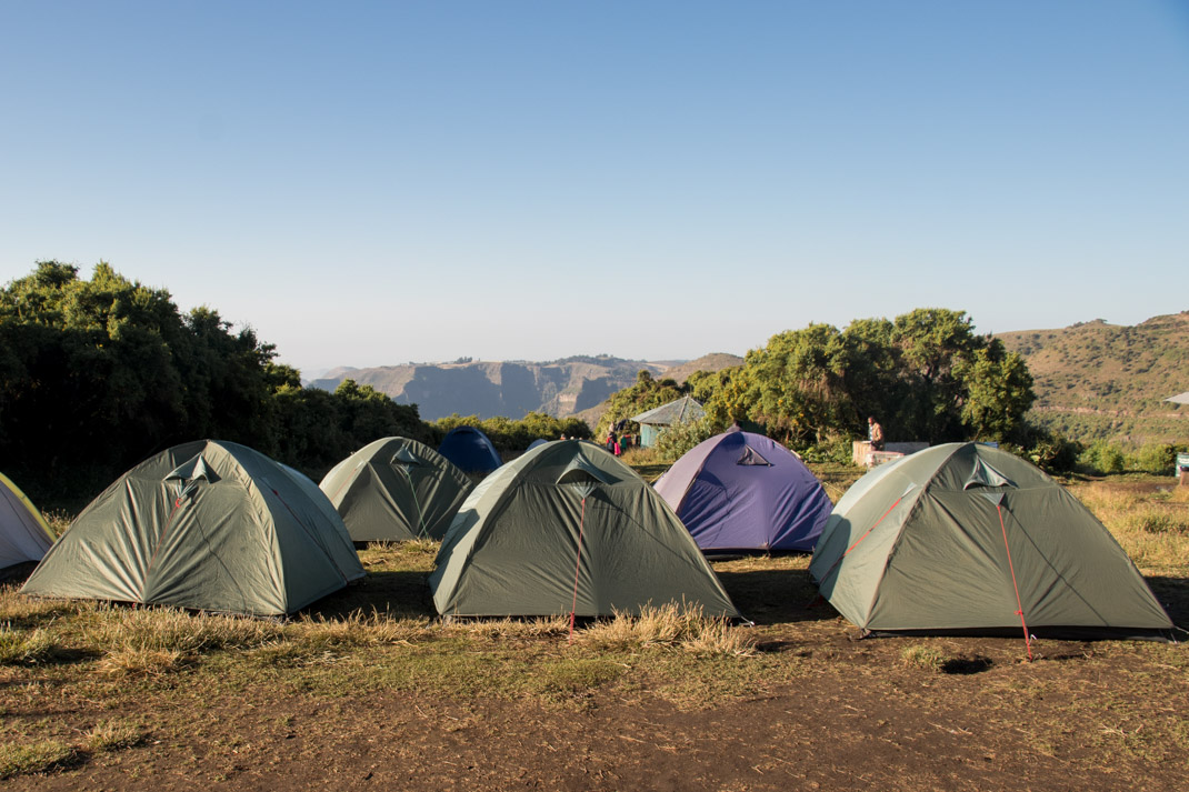 Sankaber Camp in the Simien Mountains