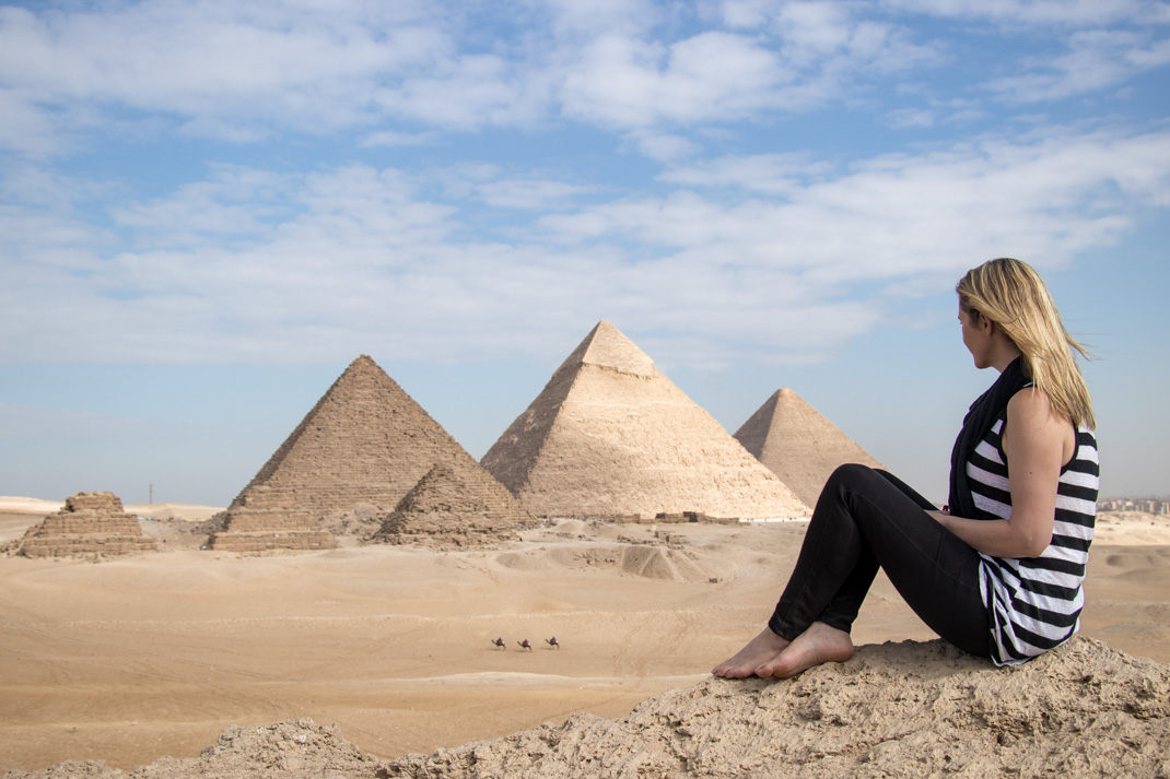 Pyramids of Giza views