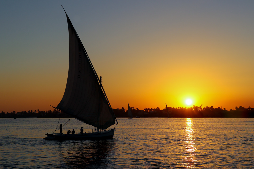 Felucca on the nile Luxor - Highlights of Egypt