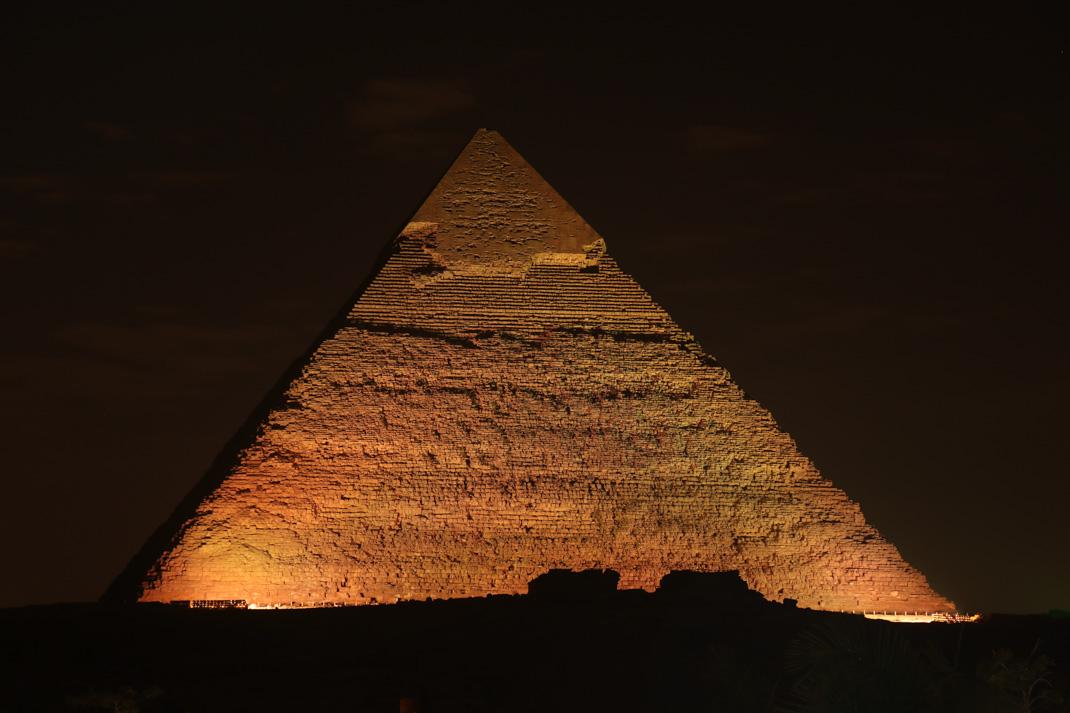 Pyramids of Giza light and sound show