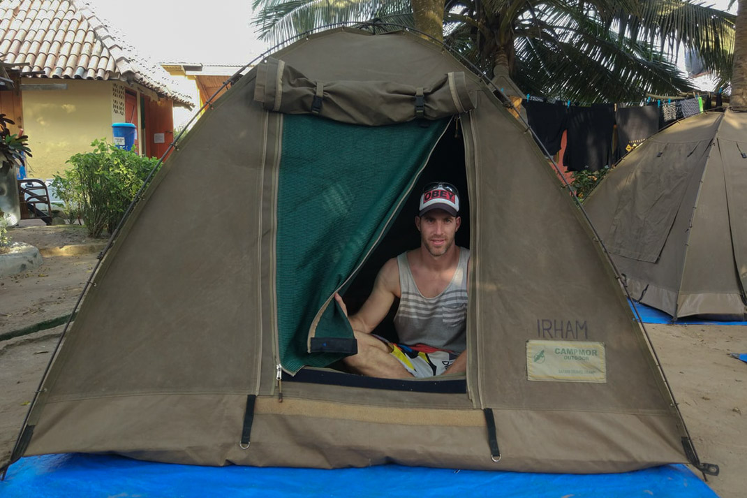 Oasis Overland 'Accra to Cape Town' tents