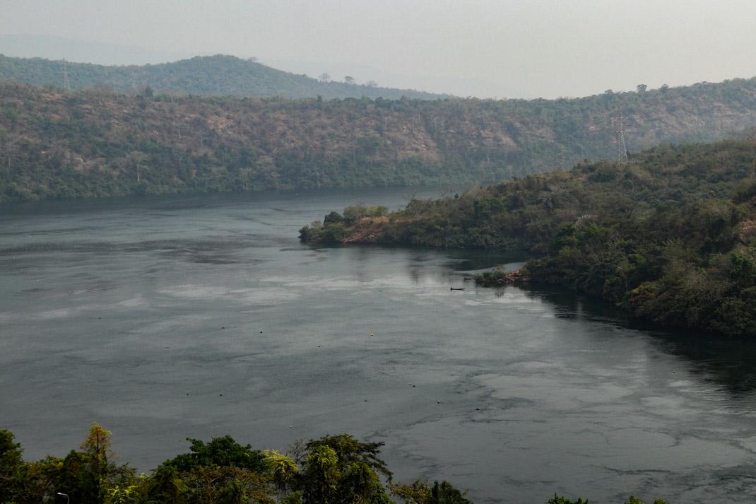 Akosombo dam in the Volta Region, Ghana