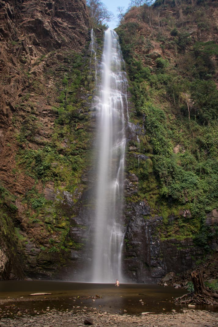 Lower section of Wli Waterfalls, the Volta Region
