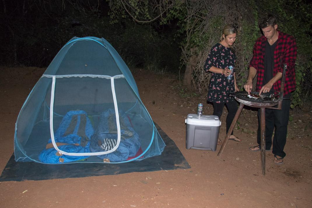 Net tent at Kruger National Park