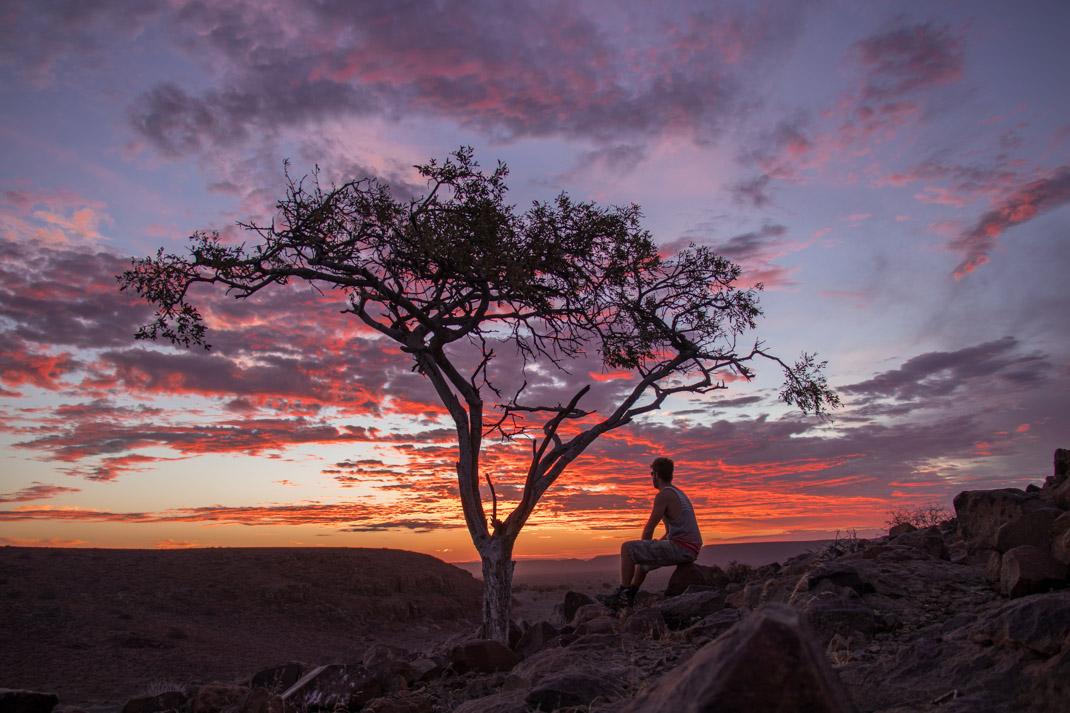 Namibian Sunset - Damaraland and the Skeleton Coast