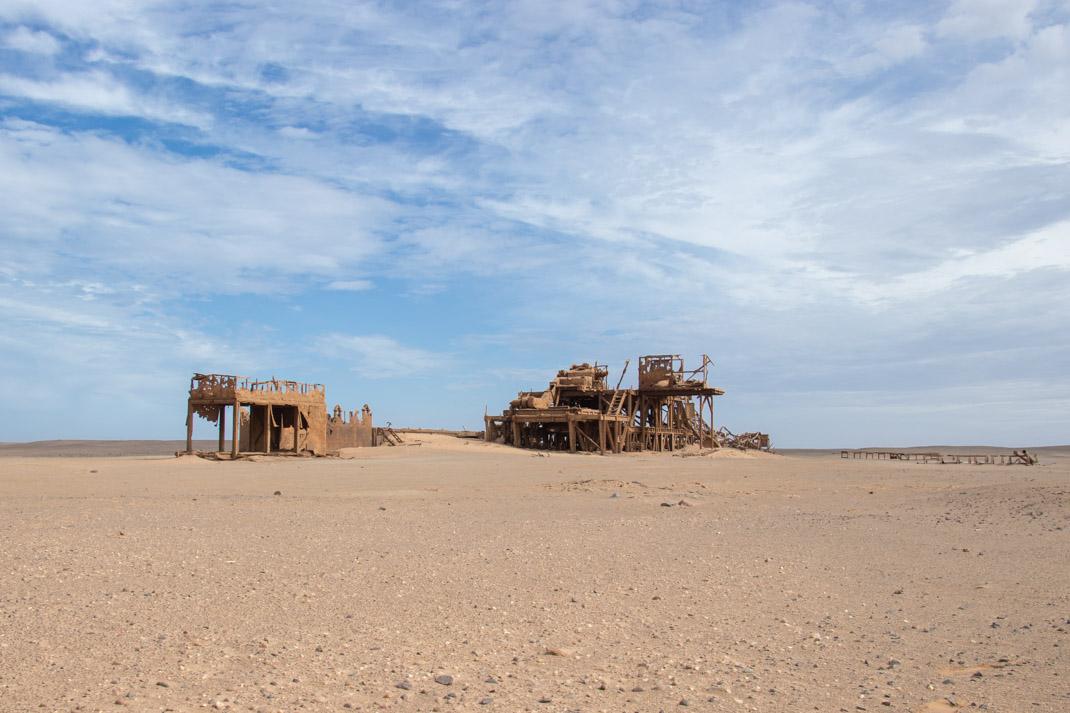abandoned oil rig Damaraland and the Skeleton Coast