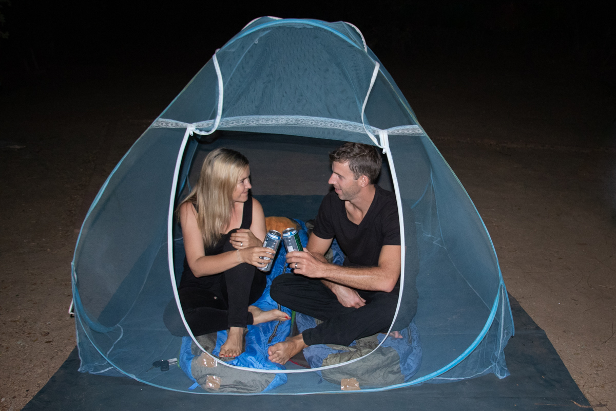 Final camp in our net tent, at Kruger National Park