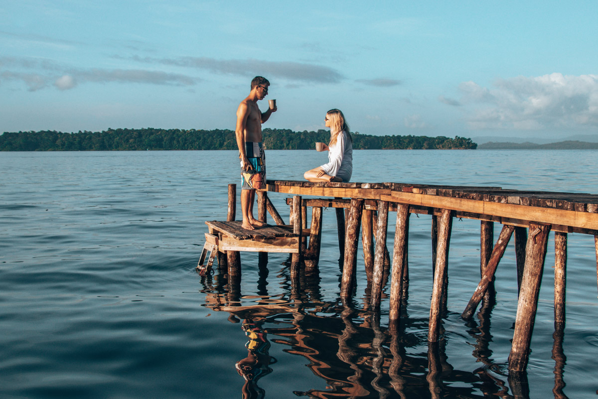 Isla Batimentos - Bocas del Toro sunrise coffee