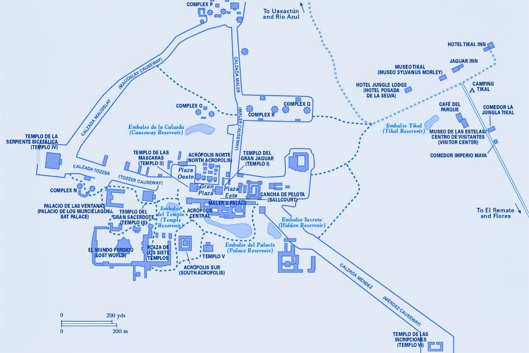 Tikal Site Map