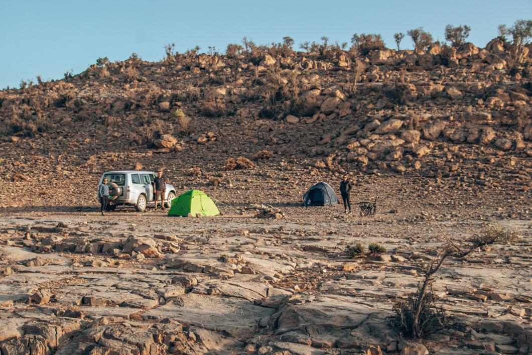road trip in Oman- Jebel Shams Campsite