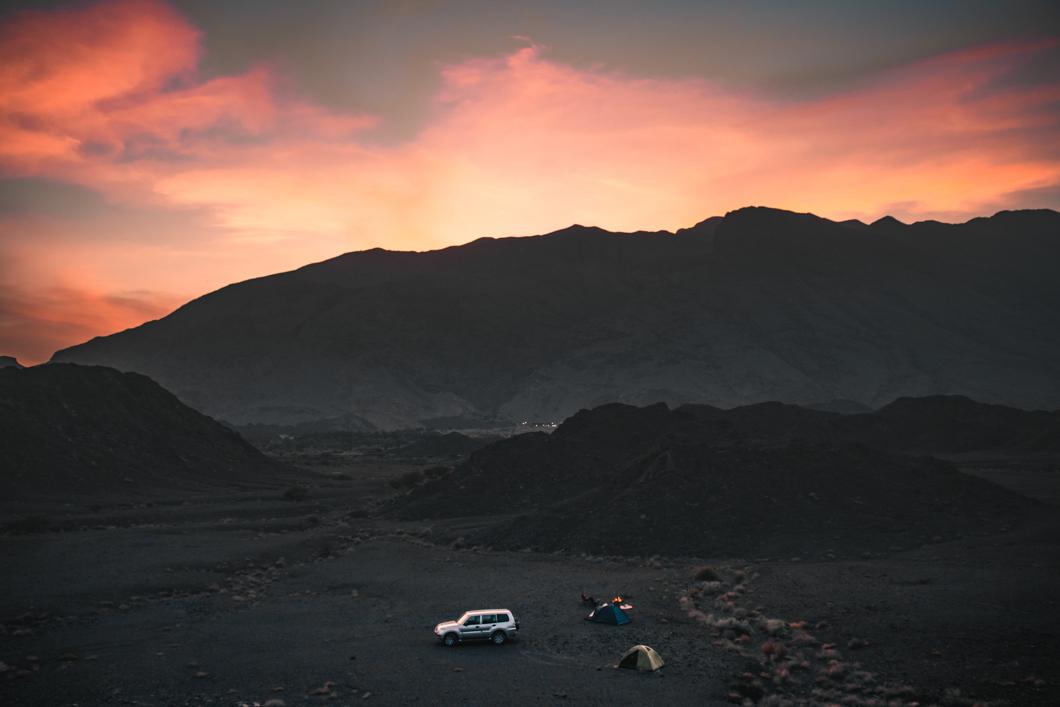 Bahla Campsite Sunset