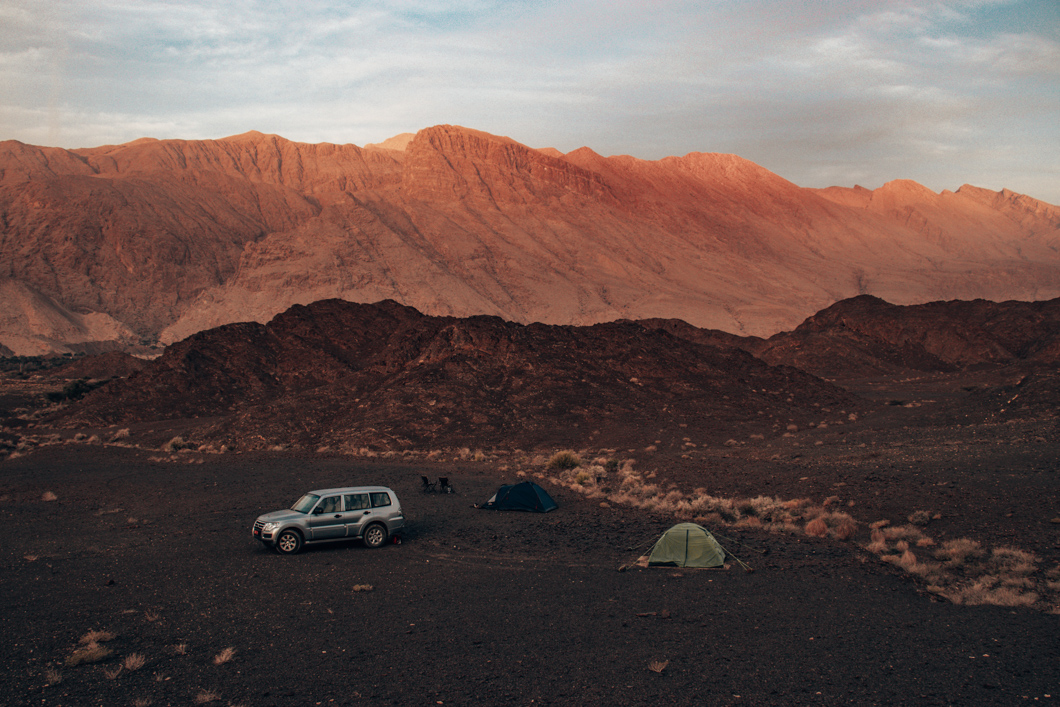 Bahla campsite sunrise - Oman Travel Guide