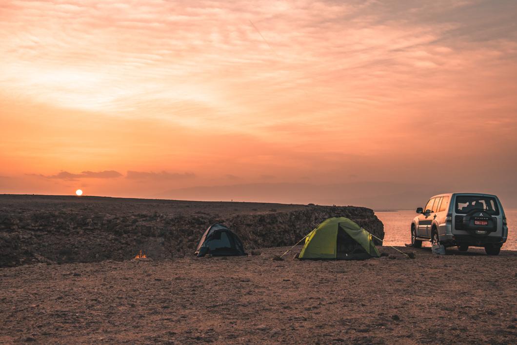 Sur camp sunset - Oman Travel Guide