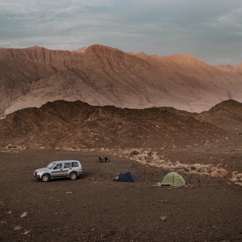 road trip in Oman - Bahla campsite
