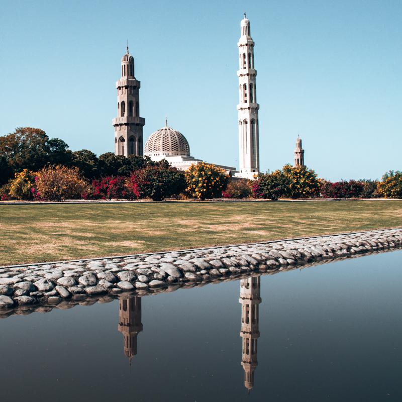 Sultan Qaboos Grand Mosque  reflection