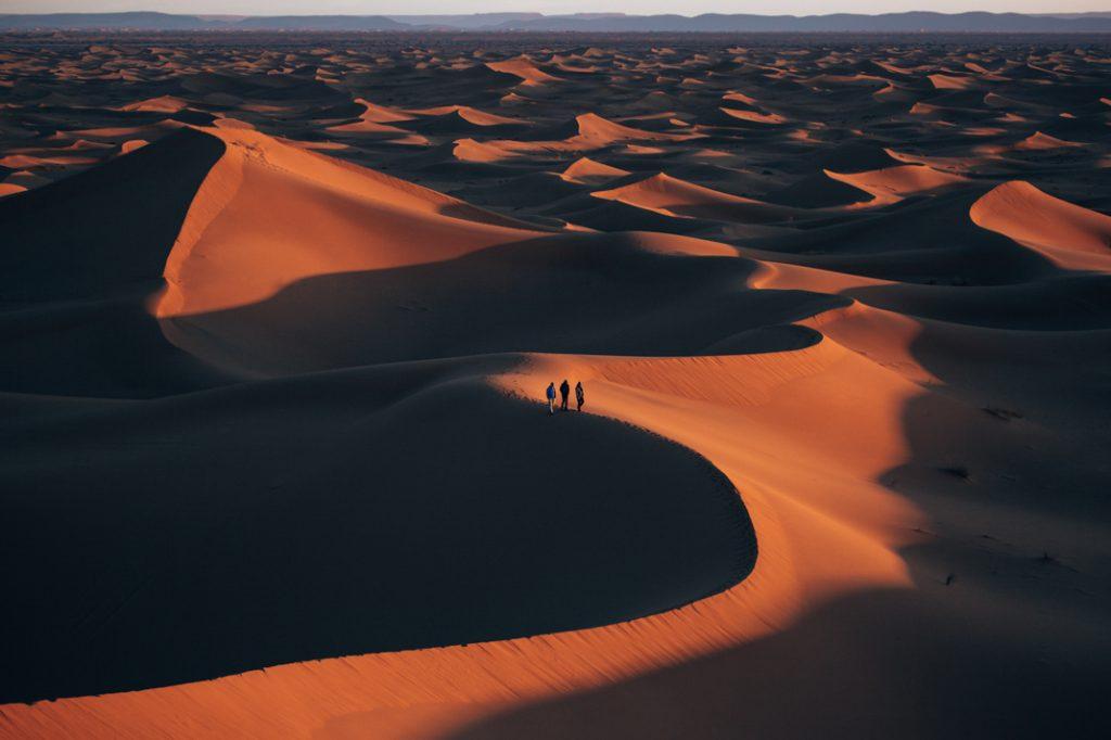 Erg Chigaga dunes sunset