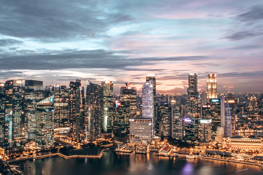 Marina Bay Sands Hotel Sunset - Singapore City Guide