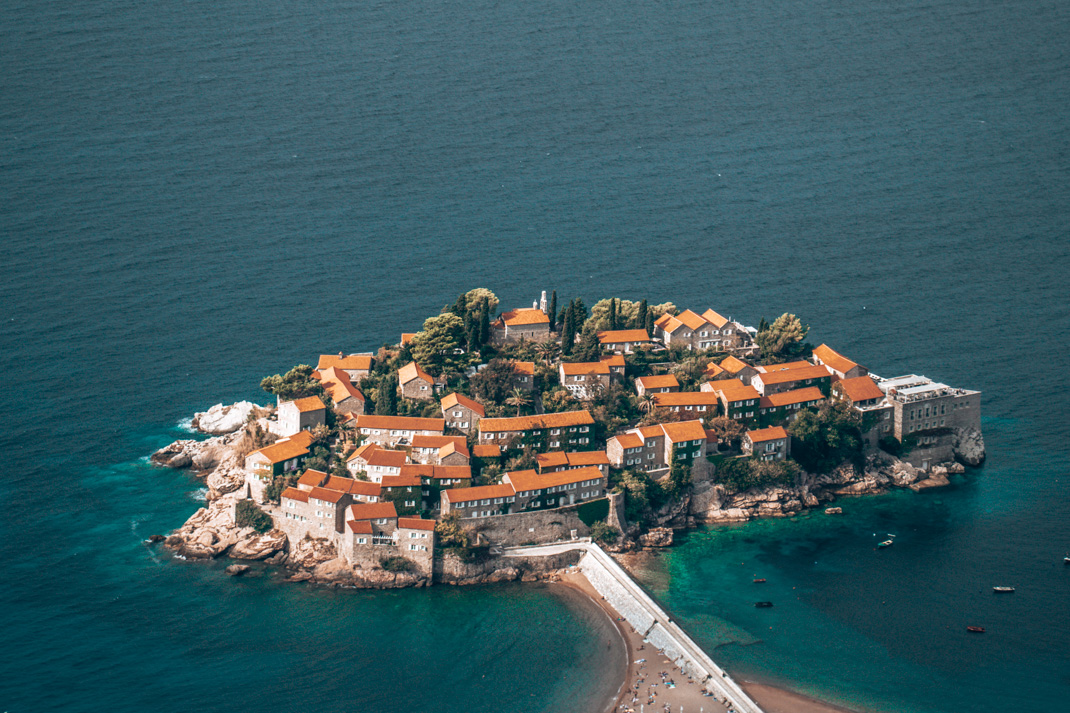 The exclusive island of Sveti Stefan
