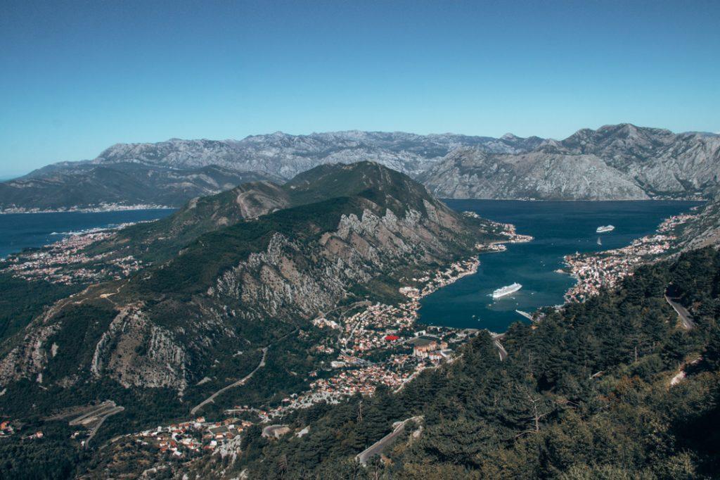 Beautiful view over Kotor Bay