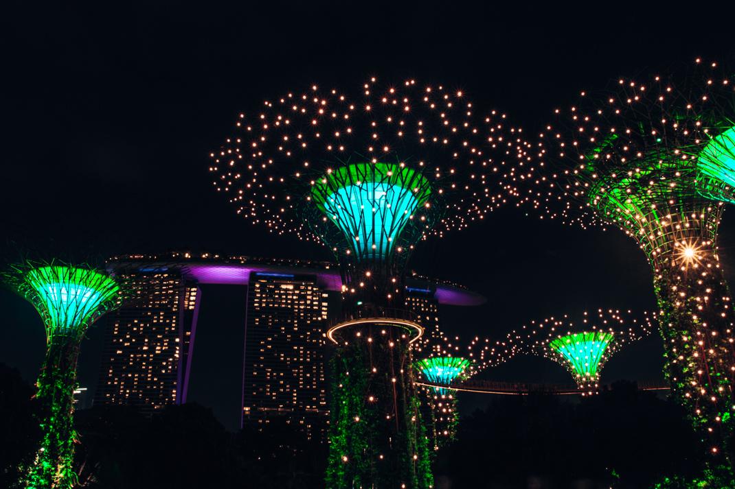 Gardens by the Bay Sound and Light Show - Singapore City Guide