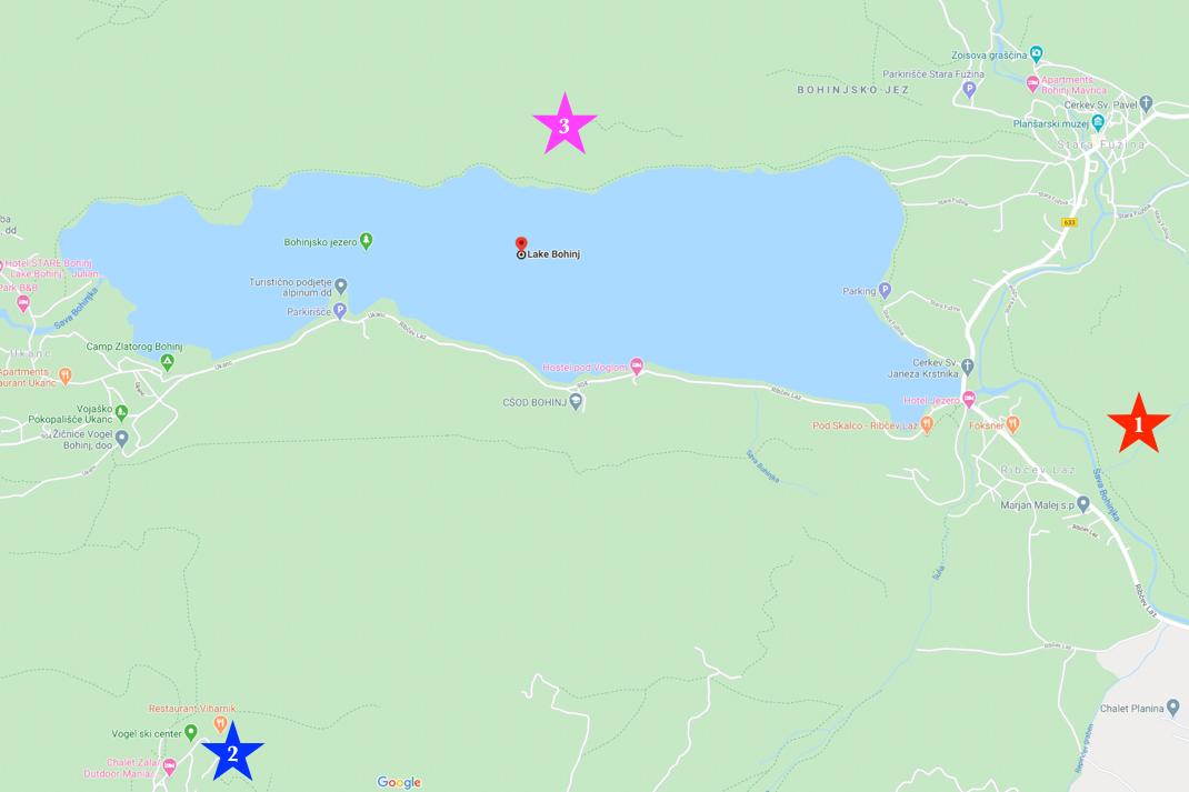 Lake Bohinj Viewpoint Map