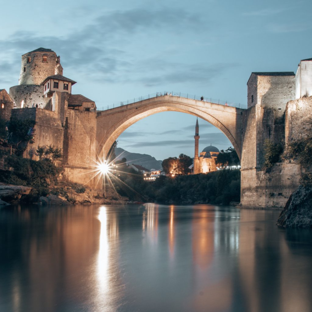 Mostar Bridge by night