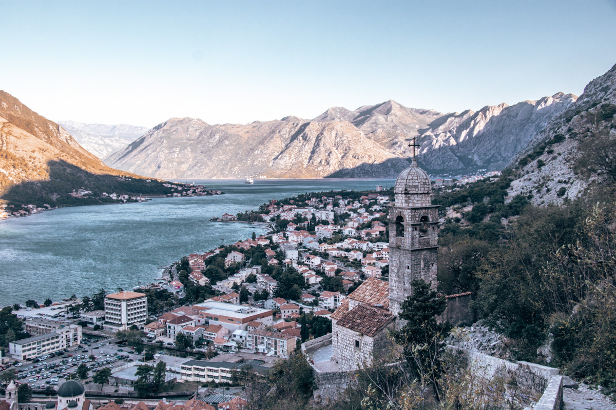 CLIMBING KOTOR'S CITY WALLS VIEW