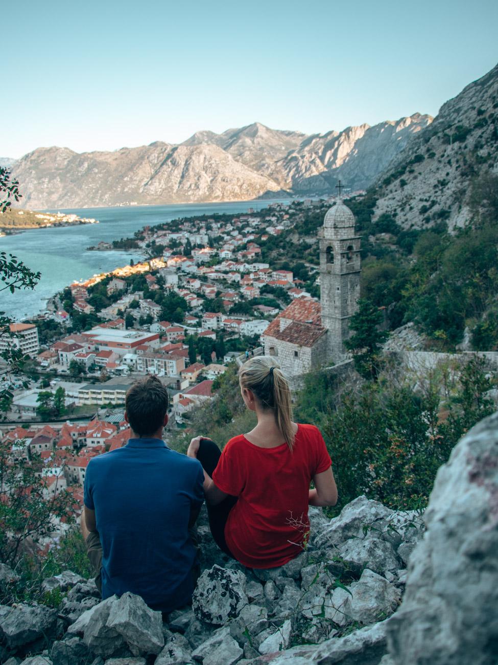 Views climbing Kotors city walls