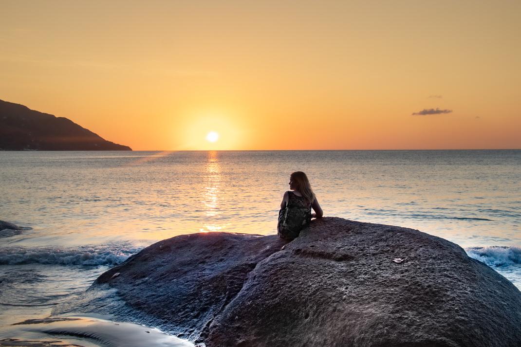 Sunset on Mahe Beach