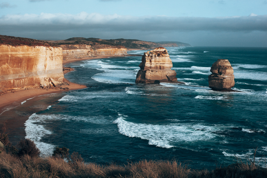 Views of Gog and Magog from 12 Apostles viewpoint