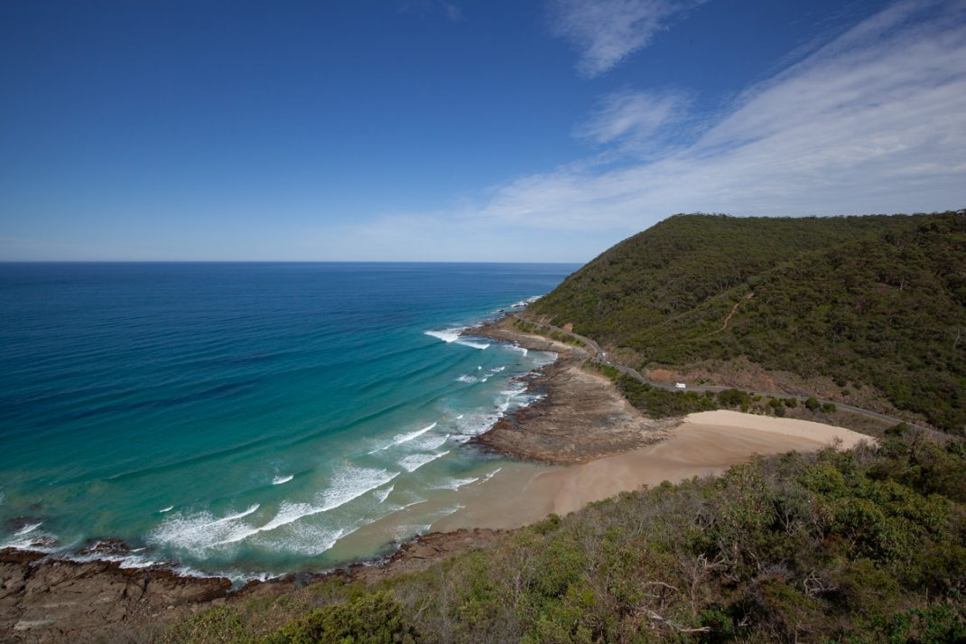 Views along the Great Ocean Road from Teddy's Lookout