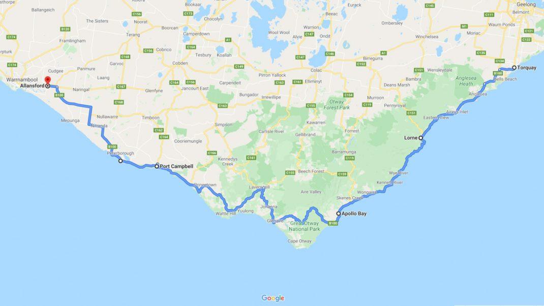 The Great Ocean Road Map