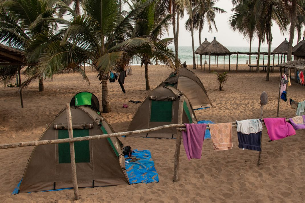 Coco Beach Camp site, Togo