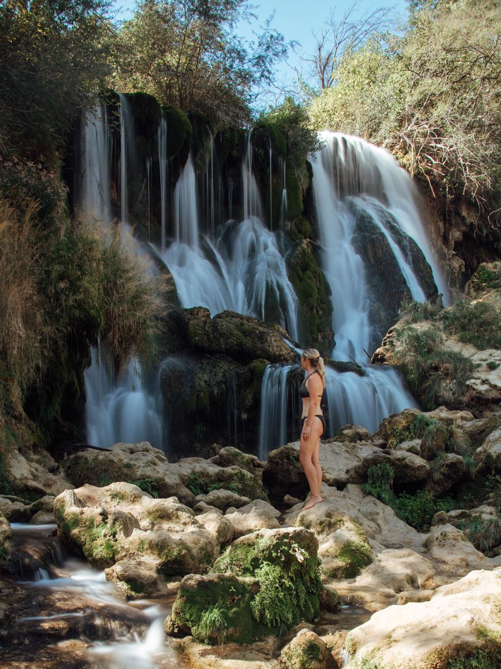 Imbi at Kravica Waterfall