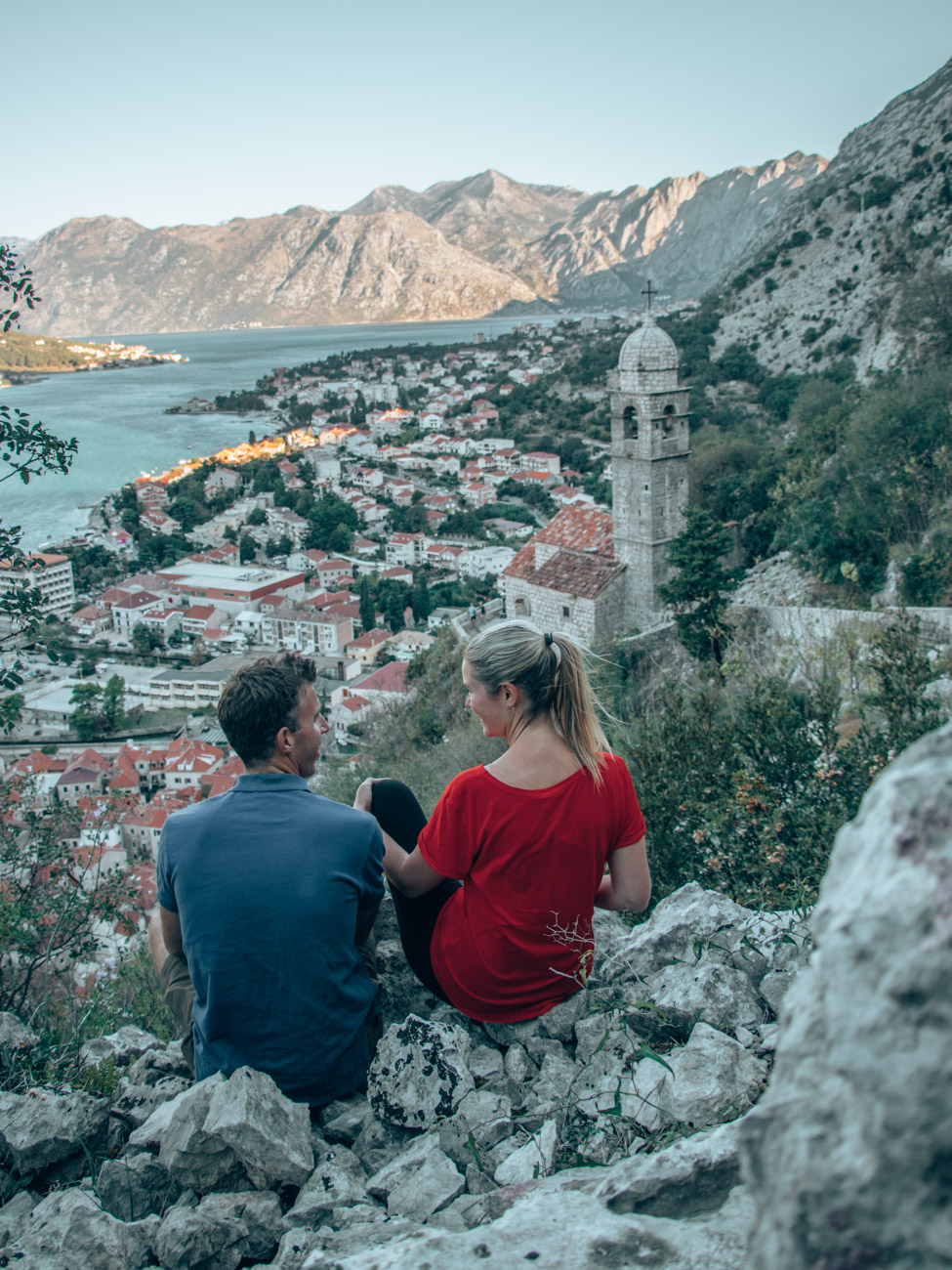 Views from climbing Kotor's city walls