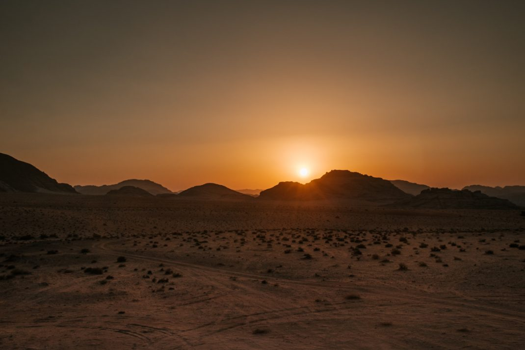 Wadi Run sunset