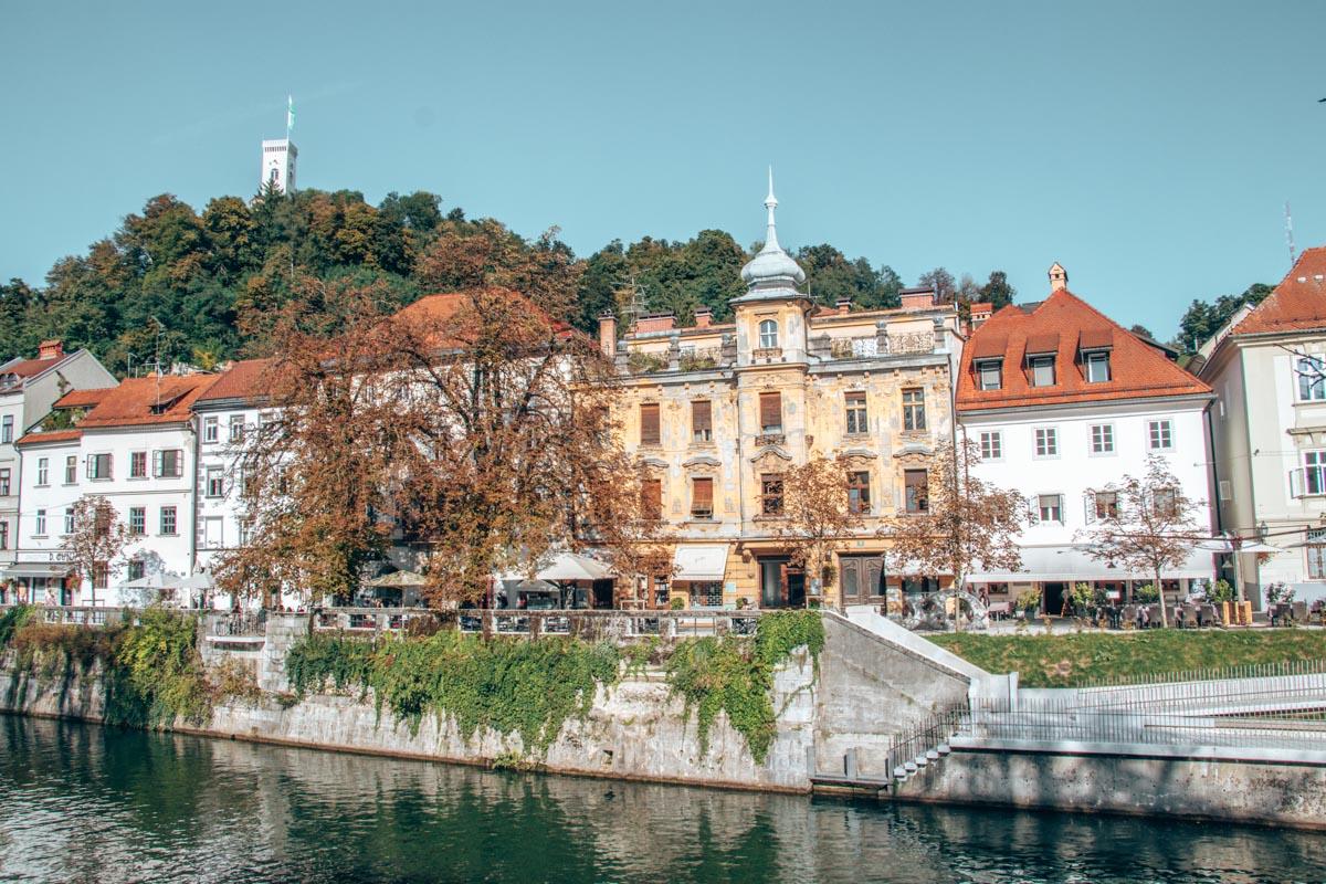 A day in Ljubljana - Looking over to the Gallusovo Nabrezje