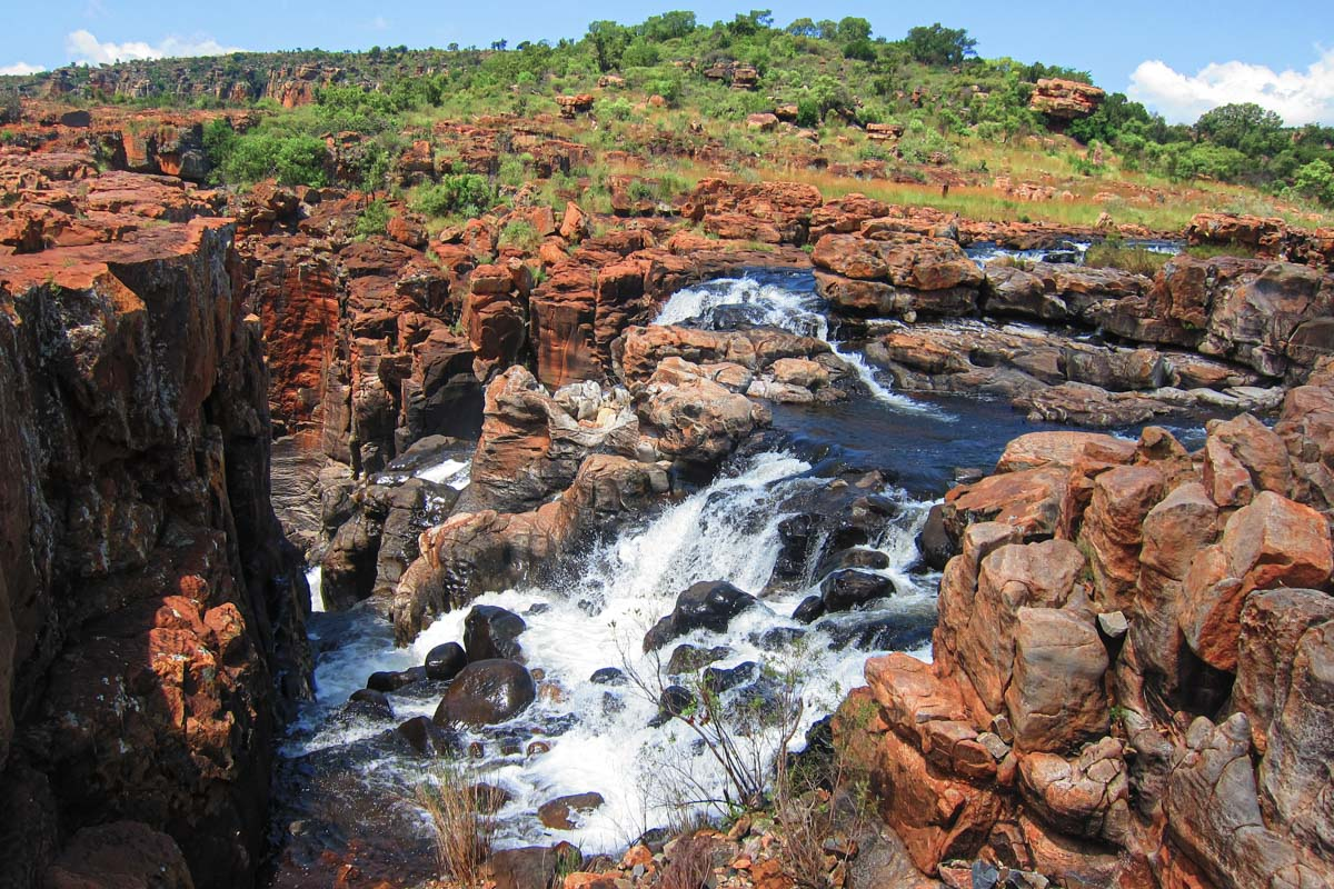 Bourkes Luck Potholes Waterfall