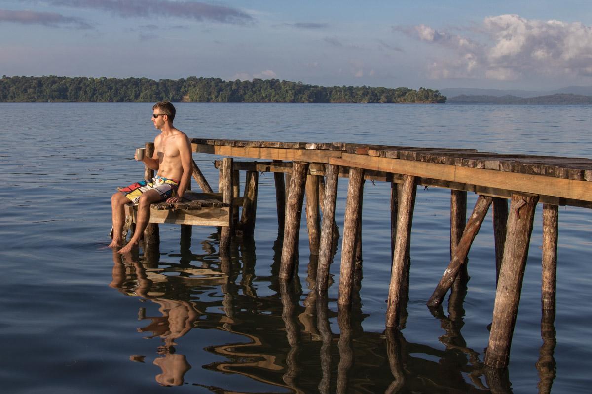 Isla Batimentos - Bocas del Toro morning coffee